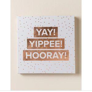 Francesca's Yay Yippee Hooray Confetti Wall Art